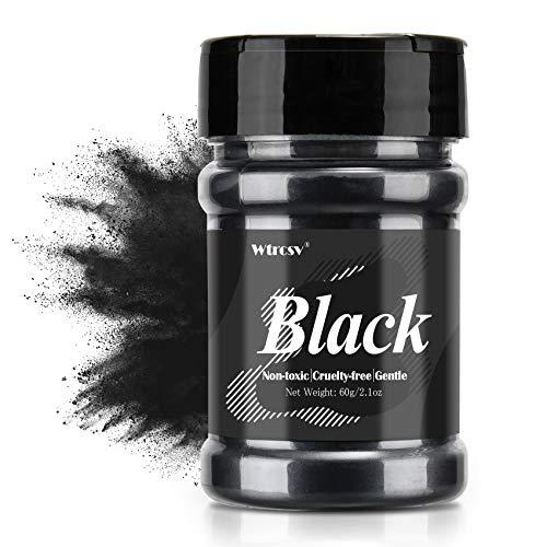 Epoxidharz Farbe metallic, Seifenfarbe - 60g schwarz Pulver - für die Seifenherstellung, Mica Powder, Epoxy Resin Farbe Farbpigmente Pigmentpulver Farben Pigment, Farbe für Epoxidharz, Lipgloss Farbe