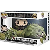 Gogowin Pop Television : Game of Thrones - Jon Snow with Rhaegal 3.75inch Vinyl Gift for Fantasy Tel...