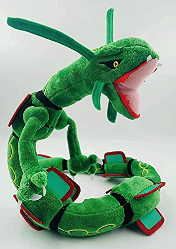 YSHFDRE Rayquaza Plush Doll Stuffed Figure Toy 31 inch Gift (Green)
