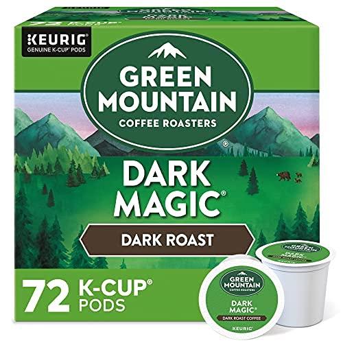 Green Mountain Coffee Roasters Dark Magic, Single-Serve Keurig K-Cup Pods, Dark Roast Coffee Pods, 72 Count