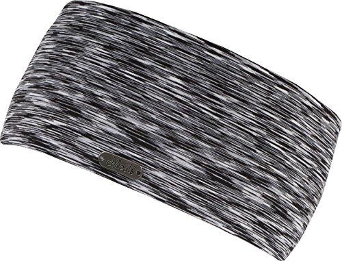 FEINZWIRN Damen Kopfband Haarband in vielen Farben für Sport und Freizeit doppellagig (Black-White)