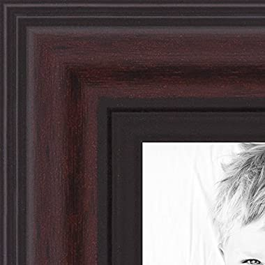 ArtToFrames 23x31 inch Traditional Cherry with Steps Picture Frame, 2WOMD8669-23x31