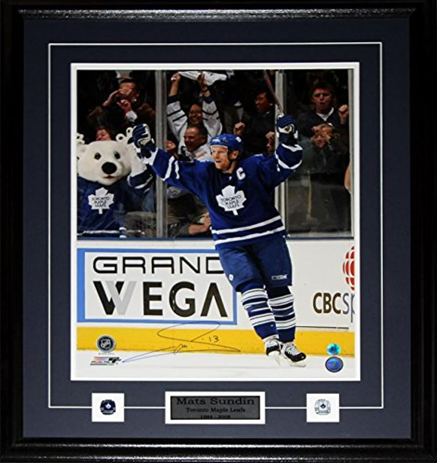 Mats Sundin Tgoldnto Maple Leafs Signed 16x20 NHL Hockey Collector Frame