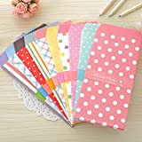 SCStyle 50 Pack Colored Envelopes 3.35 x 6.89 Inches 10 Unique Design Cute Coin invitation Gift Card Postcard Colorful Envelopes