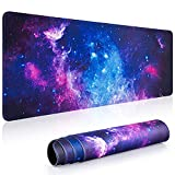 Gaming Mouse Pad, Canjoy 31.5 x 11.8 inch XL Large Extended Mouse Pad, Big Keyboard Mousepad Desk Mat with Non-Slip Rubber Base and Stitched Edges for Gaming Working Office Home Computer