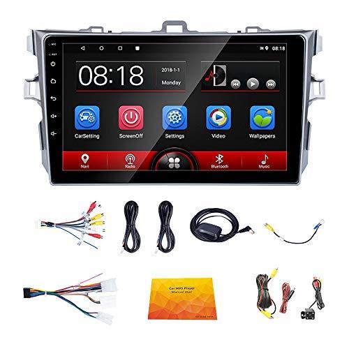 Sothat 9,1 Pollici Android 8.1 2 DIN 2.5D Vetro Autoradio Lettore Multimediale Navigazione GPS WiFi per Corolla 2007-2013
