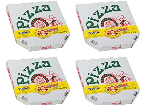 Mini Gummy Candy Pizzas in Real Pizza Box - 4.5 Inches in Diameter, 3 oz each (Pack of 4)