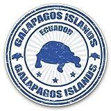 Pegatinas de vinilo impresionantes (juego de 2) 15 cm – Galápagos Islands Turtle Ecuador Divertidas calcomanías para ordenadores portátiles, tabletas, equipaje, chatarra, neveras, regalo fresco #4439