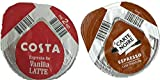 48 x Tassimo Costa Espresso for Vanilla Coffee T-Discs Only 6 x Carte Noire Latte Coffee Pods only, Sold Loose