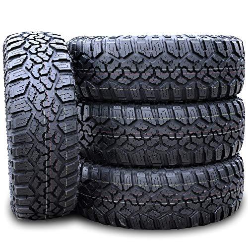Set of 4 (FOUR) Kanati Trail Hog A/T-4 All-Terrain Off-Road Light Truck Radial Tires-37X12.50R17LT 37X12.50X17 37X12.50-17 124Q Load Range E LRE 10-Ply BSW Black Side Wall
