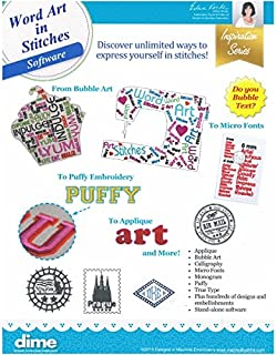 word art in stitches software