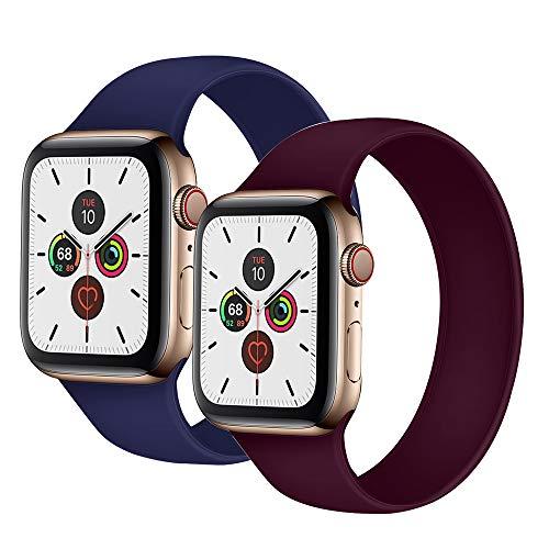 Huaatiear Compatible Cinturino per Apple Watch Cinturino 44Mm 42Mm 40Mm 38Mm Morbido Silicone Traspirante Cinturini Sportiva di Ricambio per Iwatch Series 5/4/3/2/1-2 PCS,42mm/44mm