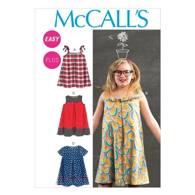 McCall Pattern Company M6738 Girls'/Girls' Plus Dresses Sewing Template, Size GRL (7-8-10-12-14)