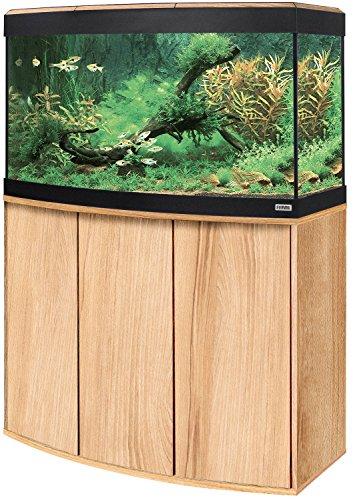 Aquariumkombination Fluval Vicenza 180 mit LED Beleuchtung, Heizer, Filter und Unterschrank Kernbuche