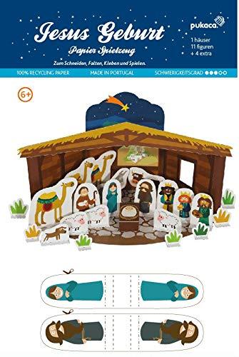 Forum Traiani Bastelbogen Geburt Christi, 17 Figuren , 5 extra Elemente - Pukcaka DIY Bastelbögen Papier-Karton für Kindergeburtstag als Geschenkidee, Bastelidee für Jungs und Mädchen