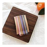 10個入り/セットスウィートファッションマットの色ヘアクリップキャンディ色の波フラット曲面ヘアピン女性女の子Hairgripウェーブバレッタギフト (Color : 4)