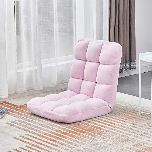 Ansley&HosHo-EU Soft Folding Floor Seating, 18-Grid Comfortable Flannel Floor Chair,...