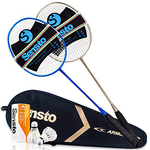 100{a0d7c1fa4ca0e20a3c51068d819429d1cf48b60e0e2898a1e2cda076b098d0a7} Vollcarbonfaser-Hochspannungs Schnur Badmintonschläger, Profi-Wettbewerb Design Welle Badmintonschläger, Leicht Graphite Einzelbadmintonschläger Badmintontasche. lalay ( Color : Blue Gold )