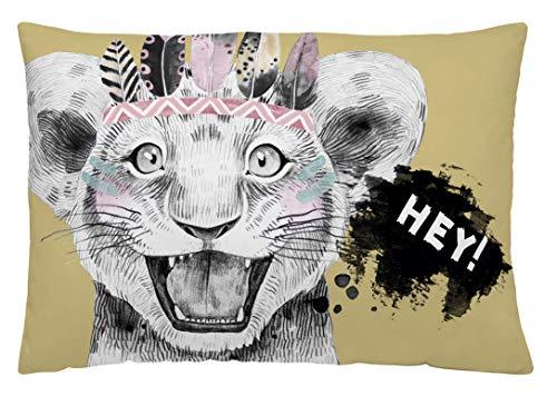 NATURALS Funda de cojín Reversible Hey Zoo 50x30 cm