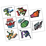 amscan Assorted Rise of The TMNT Kids Temporary Tattoos- 8 pcs.