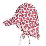 LACOFIA Cappello da Spiaggia Protezione Solare 50 + UPF per Neonato Berretto Estivo Regolabile per Bambini Anguria 6-18 Mesi
