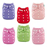 Best All In One Cloth Diapers - ALVABABY Baby Cloth Diapers 6 Pack with 12 Review