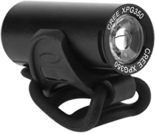 Chuanghong - Mini USB de carga 350 lm, XPG LED Faro de bicicleta de aleación de aluminio impermeable, linterna de bolsillo...