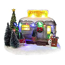 this adorable musical christmas tree selling rv trailer has colorful led lights and plays 8 different christmas songs