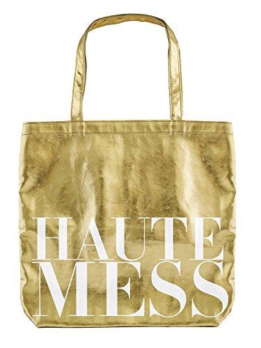 SB Design Studio PVC Tote Gold, Haute Mess