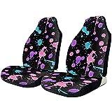 fingww Car Seat Covers Immagine Vettoriale Blob Coprisedili per Auto Tracce di Pneumatici Flessibili Accessori per Seggiolini Auto 2Pc per Camion SUV di Automobili