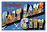 Greetings from Salt Lake City, Utah, Vintage Postcard on Magnet, Travel, Souvenir, Refrigerator, Locker Magnet 2 x 3 Fridge Magnet