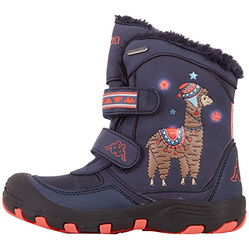 Kappa Unisex Kinder LAMA TEX KIDS Sneaker, 6729 Navy/Coral, 28 EU