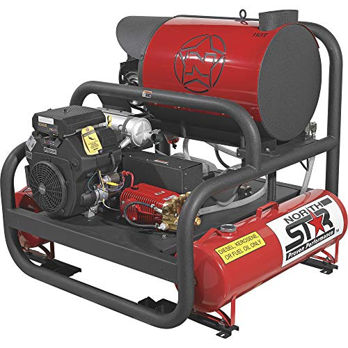 Best Deals! Northstar Hot Water Commercial Pressure Power Washer Skid with 2 Wands - 4,000 PSI, 7.0 ...