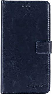 TienJueShi Dark Blue Book Stand Retro Flip Leather Protector Phone TPU Silicone Case For Infinix S5 Pro 6.53 inch Gel Cove...