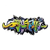 nikima Schönes für Kinder 158 Wandtattoo Graffiti bunt - in 6 Größen - Wanddeko Kinderzimmer Jugendzimmer Teenager - Größe 1500 x 670 mm