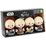 HMK Hallmark itty bittys Star Wars Cantina Band Stuffed Animals, Collector Set of 4