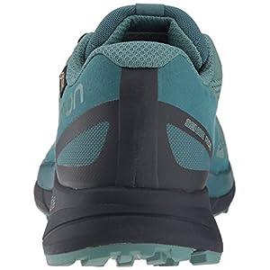 Salomon Women's Sense Ride GTX Invisible Fit Trail Running Shoes, Trellis/Graphite/Hydro., 9