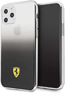 CG Mobile Ferrari Pc/TPU Hard Case for iPhone 11 Pro Cell Phone Cover On Track Gradient Transparent Case Dark Grey Shock A...