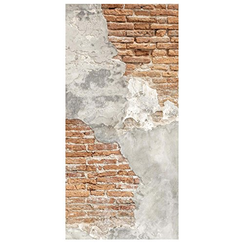 Bilderwelten Panel japones - Shabby Brick Wall - 250x120cm Paneles japoneses separadores de ambientes Cortina Paneles japoneses Cortina Cortinas Soporte: 250 x 120cm Incl. Soporte Transparente