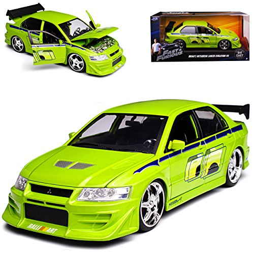 Mitsubishi Lancer Evo Evolution VII Brian O´Connor Paul Walker The Fast and The Furious 1/24 Jada Modell Auto