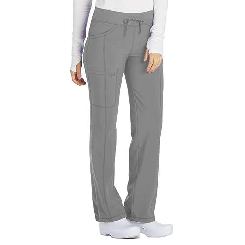 5a9610562d6 Cherokee Infinity Women's Low Rise Straight Leg Drawstring Scrub Pant