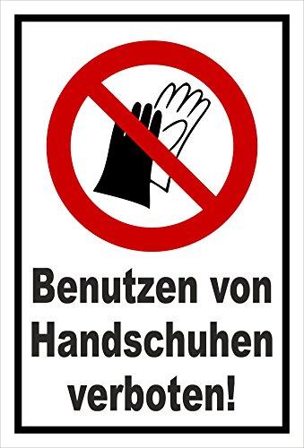 Melis Folienwerkstatt Schild - Handschuhe verboten - 15x10cm - 3mm Hartschaum – S00355-059-A 20 VAR
