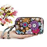 Good01 - Cartera para mujer, diseño floral, tres capas de tela 2# L