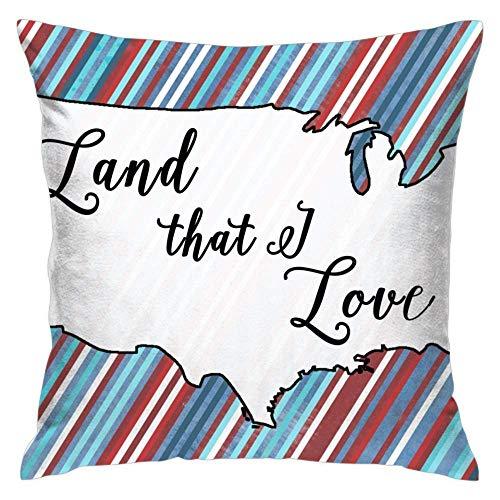 N\A Land That I Love Juego de Fundas de Almohada cuadradas Fundas de cojín Fundas de Almohada para sofá Dormitorio