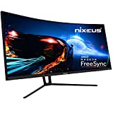 "Nixeus EDG 34"" Ultrawide 3440 x 1440 AMD Radeon FreeSync Certified 144Hz 1500R Curved Gaming Monitor with Tilt Only Stand (NX-EDG34S)"