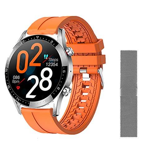 LHL GT05 Bluetooth Call Health Monitoring Control Remoto Ultra-Delgado Reloj Inteligente Hombres Y Mujeres Presión Arterial Tasa De Corazón Rastro De Fitness Pulsera Deportiva,G