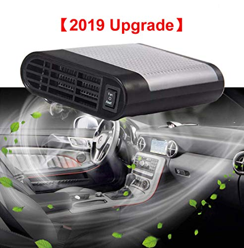 【2019 Upgrade】 Portable Car Heater,Windshield Car Heater Cooling Fan,12V 150W Fast Heating Defrost Defogger, Windscreen Fan,Auto Ceramic Heater Fan Plug in Cigarette Lighter Best Gift for Winter(Gray)