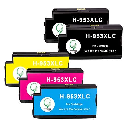 Gootior Cartuccia 953XL per HP 953 Cartucce d'inchiostro Compatibile con HP Officejet Pro 8710 8720 7740 7720 8718 8715 8210 7730 8725 8218 8728 8730 8740 (2 Nero/1 Ciano/1 Magenta/1 Giallo)