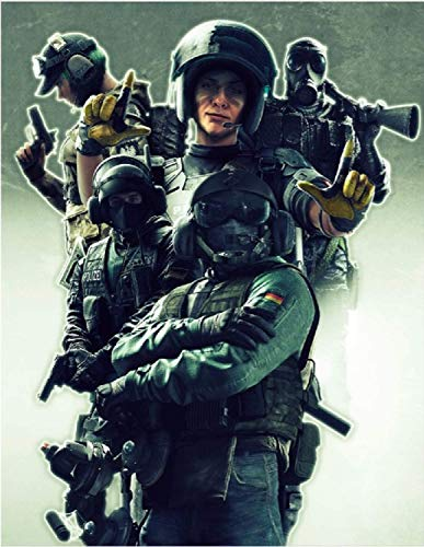 R6 Siege Poster Laminated Holographic Flip Effect (Portrait-Sized - 18'' x 14''    for Game Room Small Decor and Gift)
