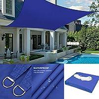シェード セイル 日除けシェード セイル 日よけ シェード遮光率95% 軽量 防水性 シェード オーニング 庭·テラス·バルコニー用 イチオリシェード 紫外線カット グレー (Color : Blue, Size : 2x4m)